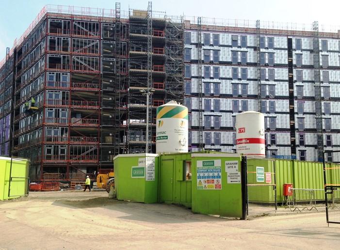 salford village block a block c steel building. Black Bedroom Furniture Sets. Home Design Ideas